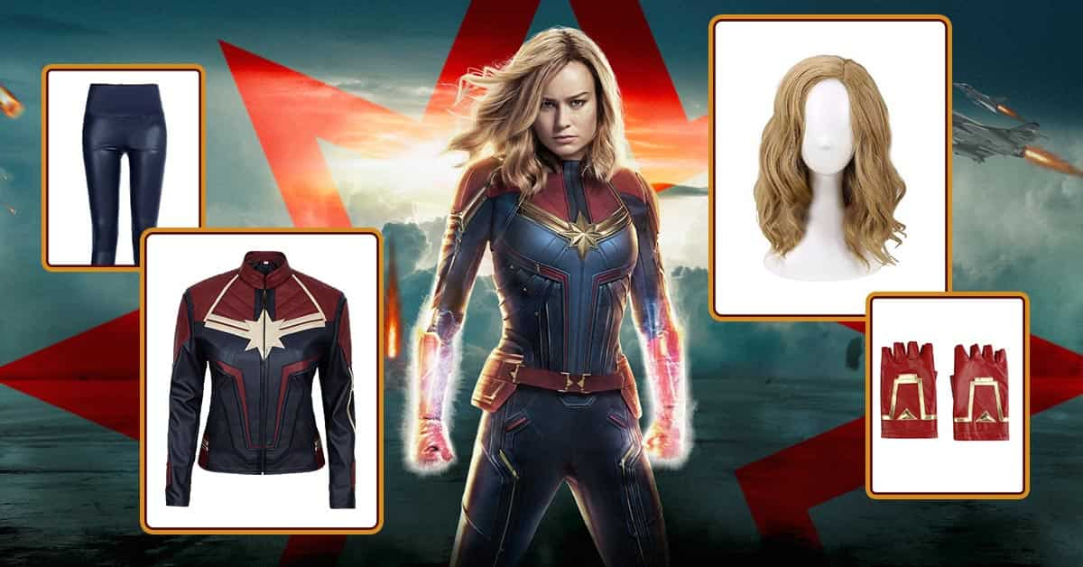 Captain Marvel Costume Complete Cosplay Diy 2019 She also wears red gloves and red boots. captain marvel costume complete