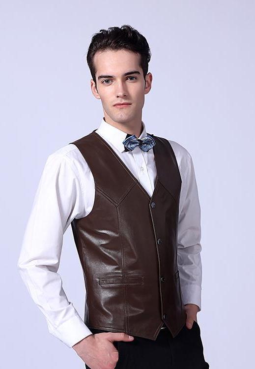 Formal Leather Vest