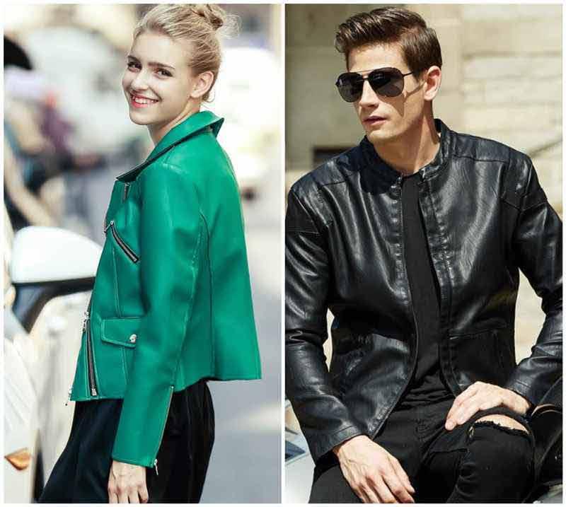 Green Biker Leather Jackets