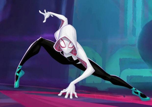 Gwen Stacy into spider verse