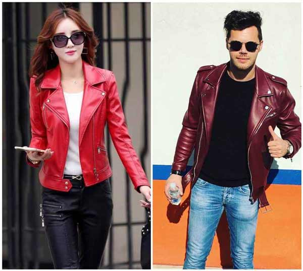 Red Leather Jacket Fashion Trend