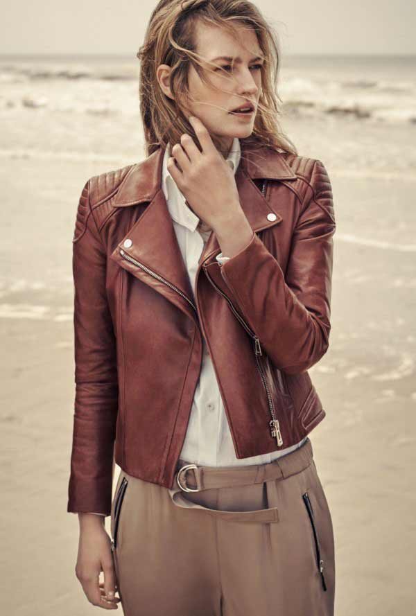 Red Leather Jacket Womens