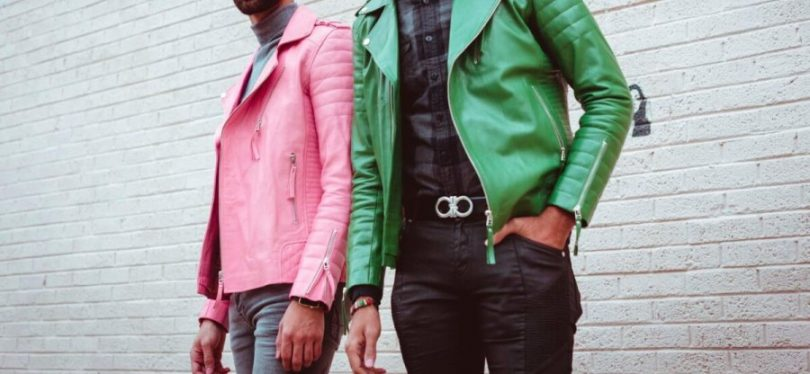 colorful leather jacket