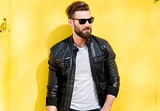 Men Leather Jacke