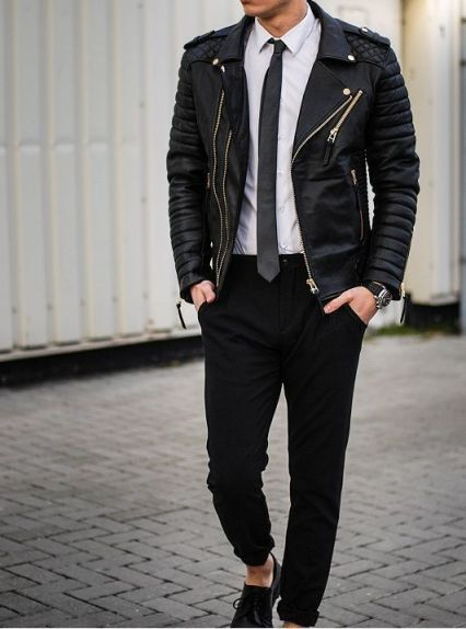 Quilted style biker jacket