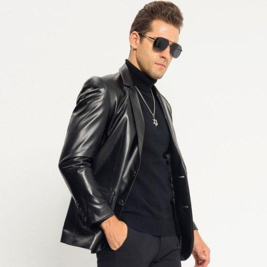 coat style leather jackets