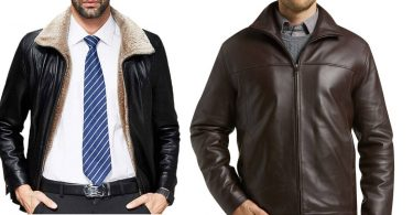 formal leather jacket style