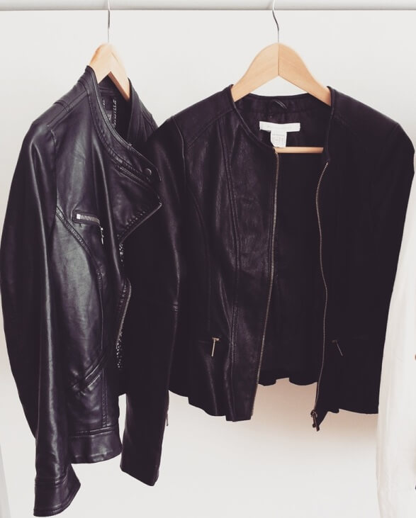 hanged leather jacket