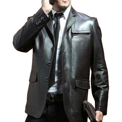 office leather jacket