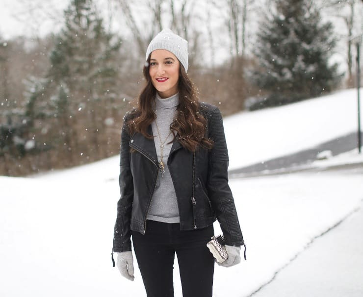 snow leather jacket