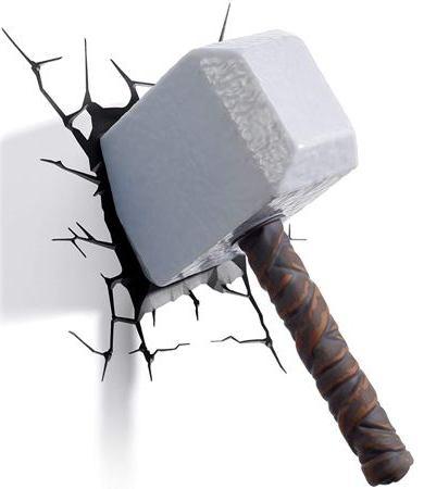 Thor Hammer 3d Deco Light