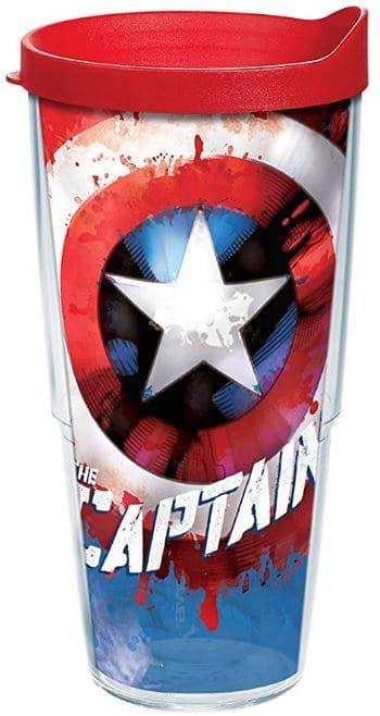 pint glass 3d captain america