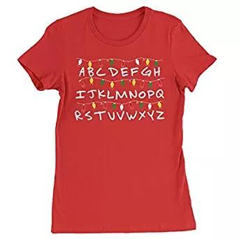 A B C D shirt strangers alphabet