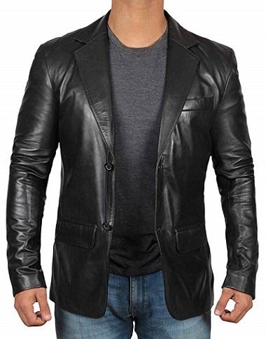 Black Leather Blazer