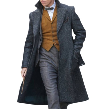 Fantastic Beasts Grey newt scamander gray coat