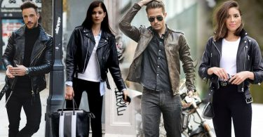 Motorcycle Jacket men women leather