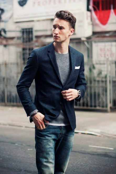 Navy blue blazer men