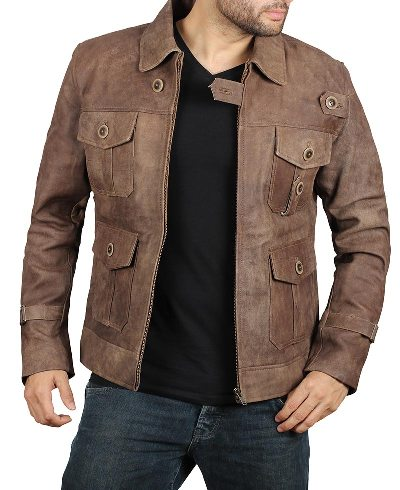 Suede Brown Leather Jacket