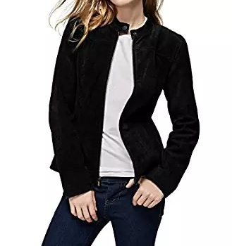 black suede jacket women