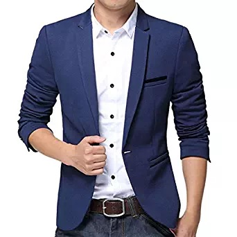 blue blazer men