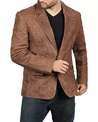 brown blazer dark men