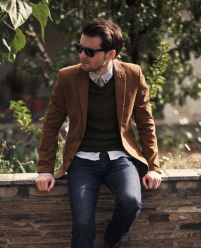 brown blazer men