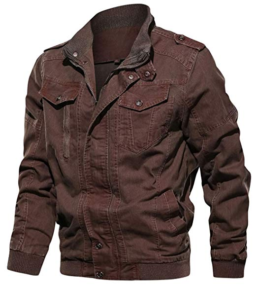 brown bomber jacket flight