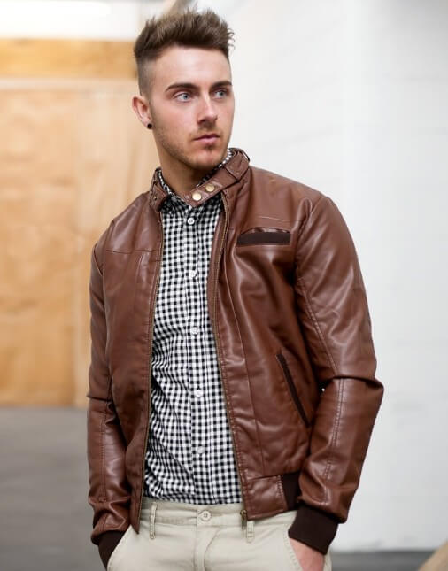brown bomber jacket for men