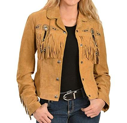 brown suede jacket women