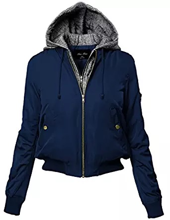cotton blue bomber jacket women