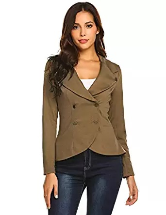 double breasted brown blazer for women