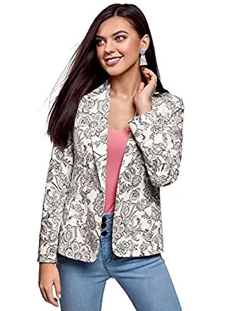 floral printed blazer for women