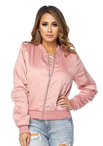 pink jacket bomber women