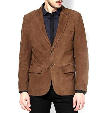 suede blazer men