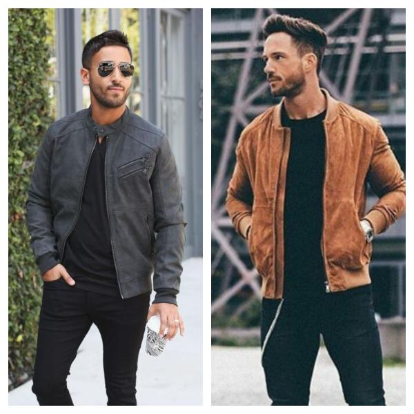 suede jacket bomber racer style