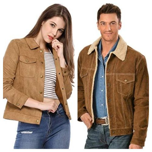suede jacket collar style casual