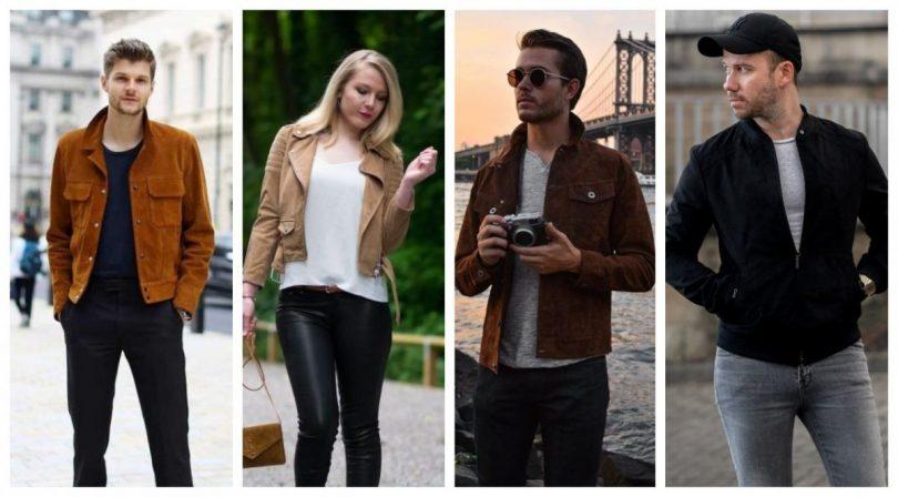 suede jacket for men women