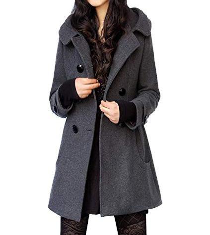 wool blend women coat