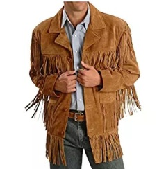 suede fringe jacket men