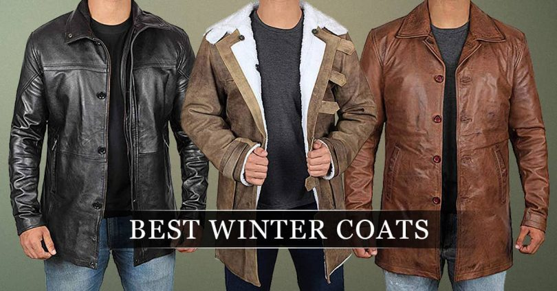 Best Winter Coats for men leather style