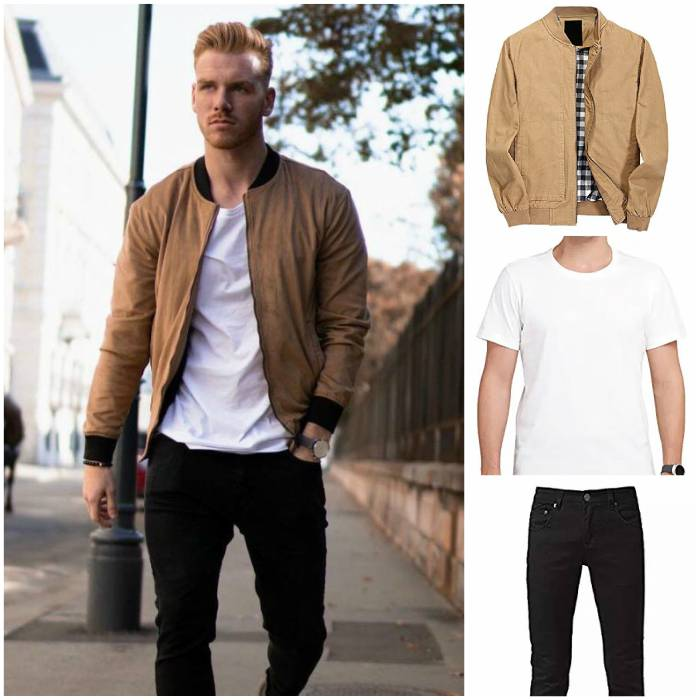 bomber brown jacket men for fashion