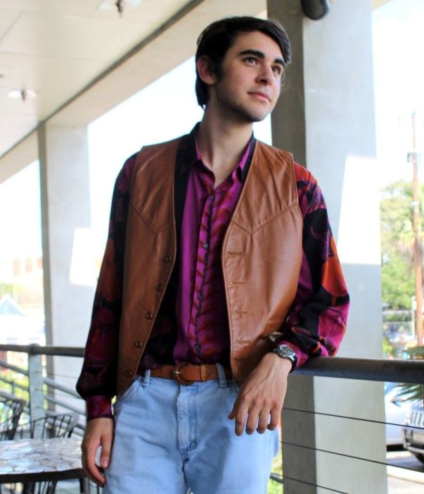 brown leather vest new