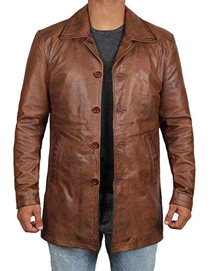 brown mens leather coats