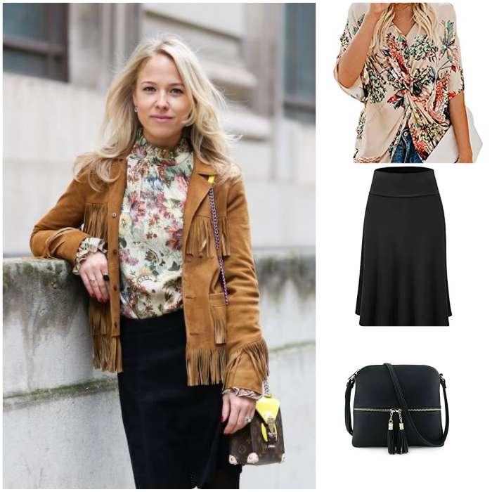 brown women jacket fringe