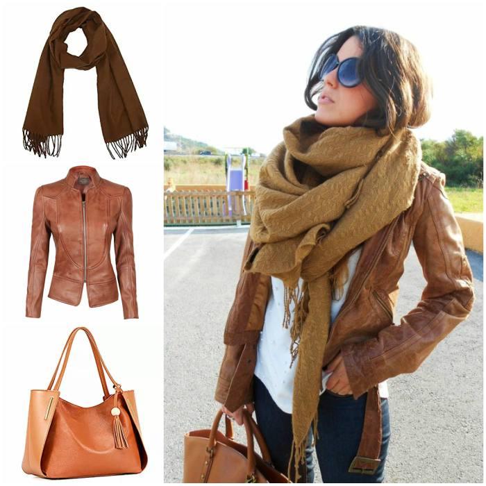 ladies brown jacket style
