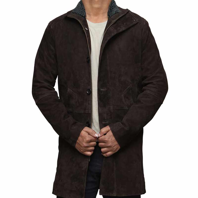 suede winter coat