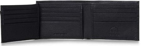 Black leather wallet for mens