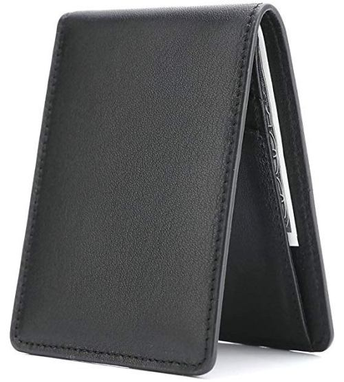 Grey Leather wallets for men