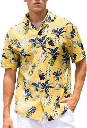 yellow hawaiian shirt