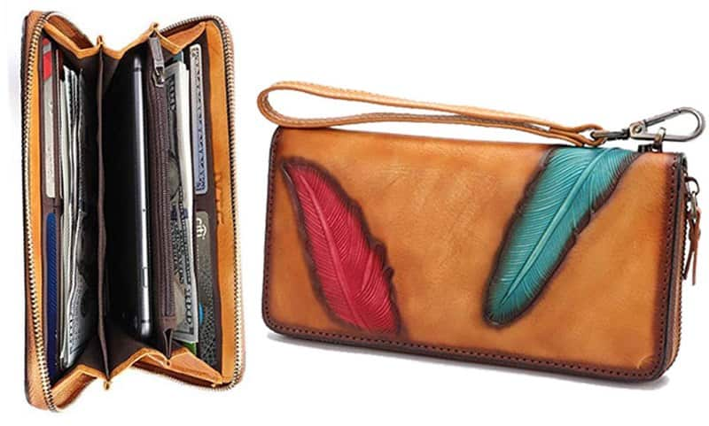 zipper-brown-leather-wallet